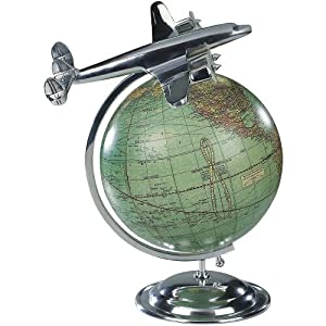 """Airplane and Globe Model """"On Top of the World"""""""