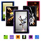 IRULU Upgraded Quad core 7 Android Tablet PC, 1024*600 HD Screen with 5 Point Capactive Touch, Android 4.4 KitKat OS, Dual Cameras(0.3/2MP) , 8GB Storage (Purple)