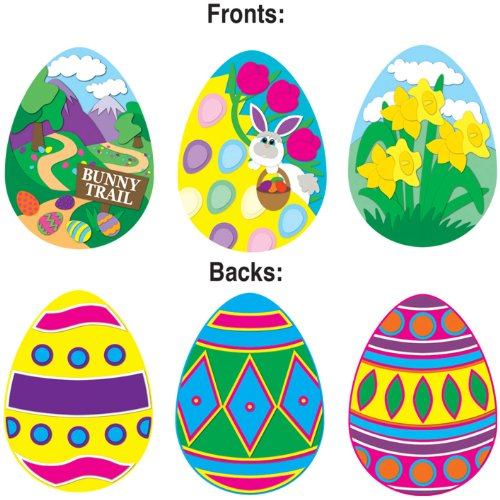 Pkgd Easter Egg Cutouts Party Accessory (1 count) (3/Pkg)