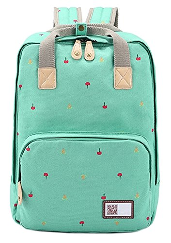 ainisi-girls-youth-casual-grass-green-canvas-travel-backpack-bookbags