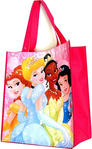 "Disney Princesses Reusable Pink Tote Bag 14""x15"" Grocery Size - 1"