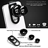 HD Mobile Phones Camera Lens - Megadream® 2 in 1 Macro Lens + Super Wide Angle Lens + CPL Lens Camera Lens Kit Universal Professional Digital SLR Pro Lens Kit for iPhone Samsung Tablet-Black