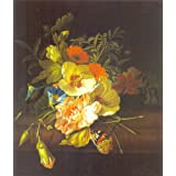"""64 Arts Ruysch- Carnation And Morning Glory Flowers(Unframed Canvas Prints)- 16""""X18"""""""