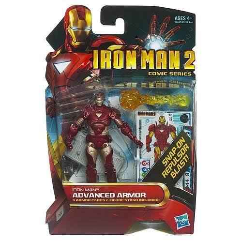 Iron Man 2 Comic Series 4 Inch Action Figure #32 Advanced Armor Iron Man Reborn - 1