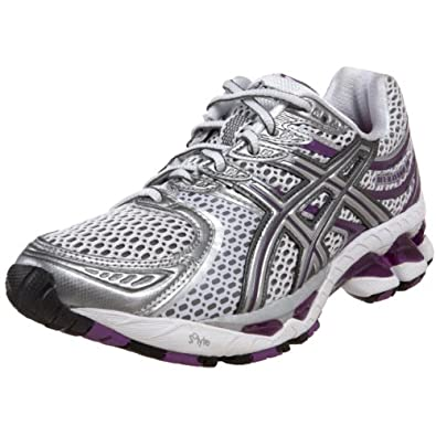 ASICS Women's GEL-Kayano 16 Running Shoe,White/Lightning/Violet,5 M US