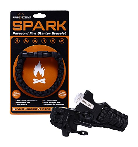 SPARK (TM) Fire Starter Outdoor Survival Black