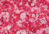 【Pinky Royal】フラワーシャワー(造花) 2000枚セット!結婚式、お祝い、誕生日パーティー用の最適なアイテム (ピンクグラデーション)