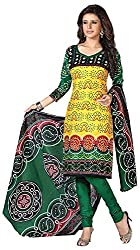 Mansi Fashion Women's Cotton Dress Material (MF-MP-2009 , Yellow)