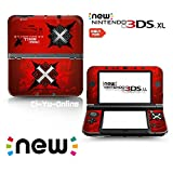 Ci-Yu-Online VINYL SKIN [new 3DS XL] - Monster Hunter X #2 Red - Limited Edition STICKER DECAL COVER for NEW Nintendo 3DS XL / LL Console System