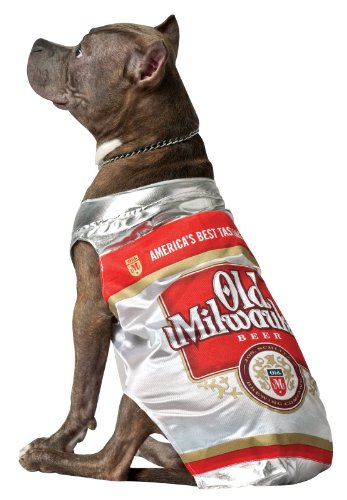 Rasta Imposta Old Milwaukee Beer Can Dog Costume, Medium