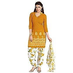 Fashion Storey New Designer Yellow Cotton Dress-marerial.