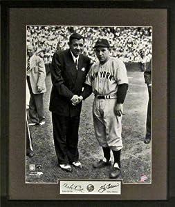 Yogi Berra & Babe Ruth Passing the Torch of Yankee Greatness 11x14 Photograph...