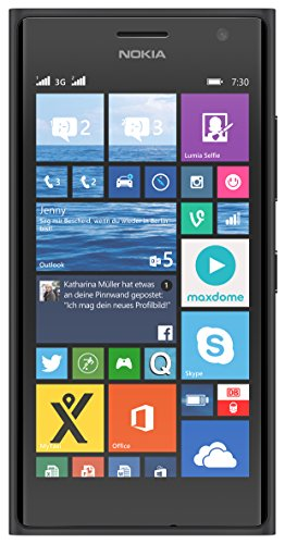 Nokia Lumia 730 Smartphone, Display 4,7 pollici, Processore Snapdragon 400 1,2GHz, Fotocamera 6,7 MP, Dual-SIM, Win 8.1, colore: Grigio scuro