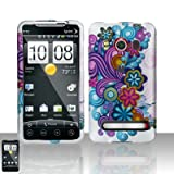 Rubberized Purple Wave Flower Snap on Design Case Hard Case Skin Cover Face ....