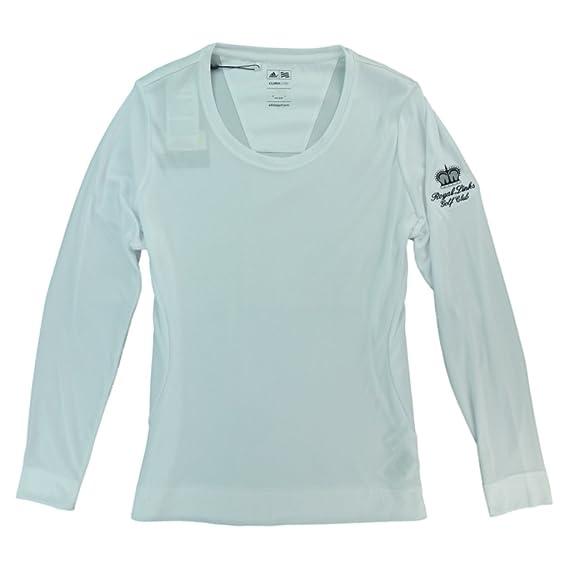 Adidas Womens Climalite Long Sleeve Layering Crew Shirt With Royal Links Logo