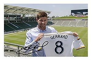 Steven Gerrard - LA Galaxy Autographed Signed A4 21cm x 29.7cm Poster Photo by CL