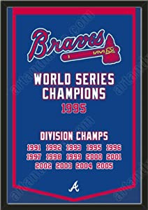 Dynasty Banner Of Atlanta Braves-Framed Awesome & Beautiful-Must For A... by Art and More, Davenport, IA