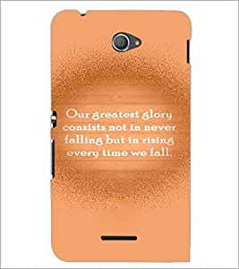 PrintDhaba Quote D-3935 Back Case Cover for SONY XPERIA E4 (Multi-Coloured)