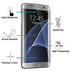 QuaGlass S7 Edge Tempered Glass - Samsung Galaxy S7 Edge 3D Full Screen Coverage 0.3mm Transparent Tempered Glass Screen Protector specially designed for Samsung Galaxy S7 Edge / S7 Edge