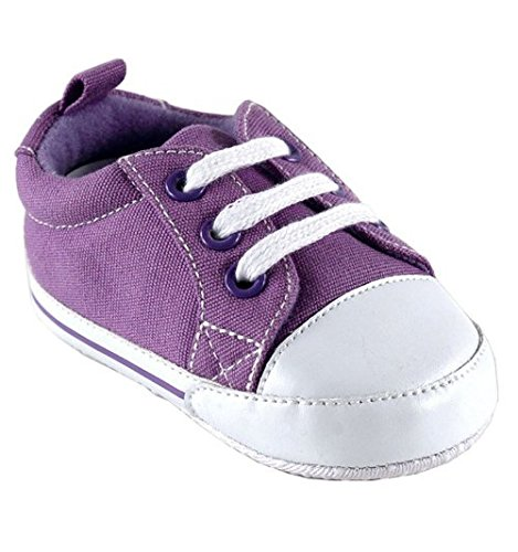 Luvable Friends Basic Canvas Sneaker, Purple, 12-18 Months front-105269