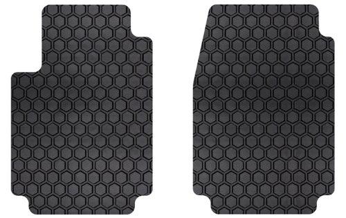 Intro-Tech Hexomat Front Row Custom Floor Mats for Select Porsche 996 (911) / Carrera / Turbo Models - Rubber-like Compound (Black) (Porsche Rims 996 compare prices)