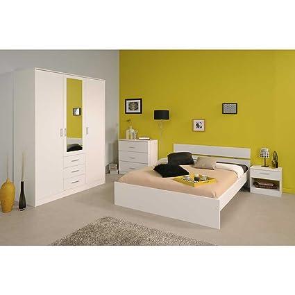 Schlafzimmerset in Weiß (4-teilig) Breite 149 cm Liegefläche 140x200 Pharao24