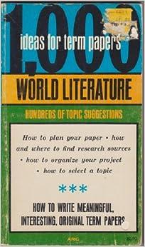 world literature research paper topics
