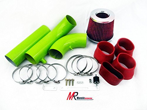 94 95 96 97 Chevrolet Camaro Z28 5.7L V8 Green Piping Cold Air Intake System Kit with Red Filter (1994 Camaro Z28 Parts compare prices)