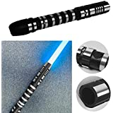 YDD Lightsaber Metal Aluminum Hilt, Ghost Premium Double Moul Force FX 16 Colors Changing Black Series Light Saber for Adults, Support Real Heavy Dueling (Set of 2) (Tamaño: Two)