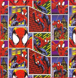 Spider Man Vinyl Shower Curtain