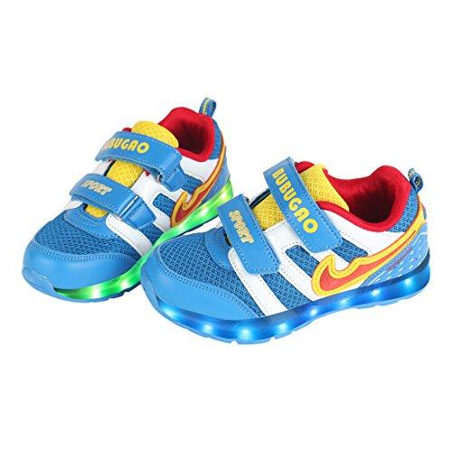 Angin-Tech-7-Colores-de-Carga-USB-Zapatos-Casual-Kid-Intermitente-Zapatillas-de-Deporte-de-LNios-y-Nias-para-el-Cumpleaos-de-Navidad-con-el-Certificado-CE