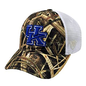 Kentucky Wildcats Mossy Oak Blades Camouflage White Mesh Hat by Top of the World