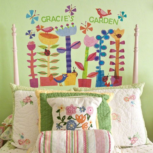 Oopsy Daisy Spring Jazz Peel and Place Wall Art, 54 by 45