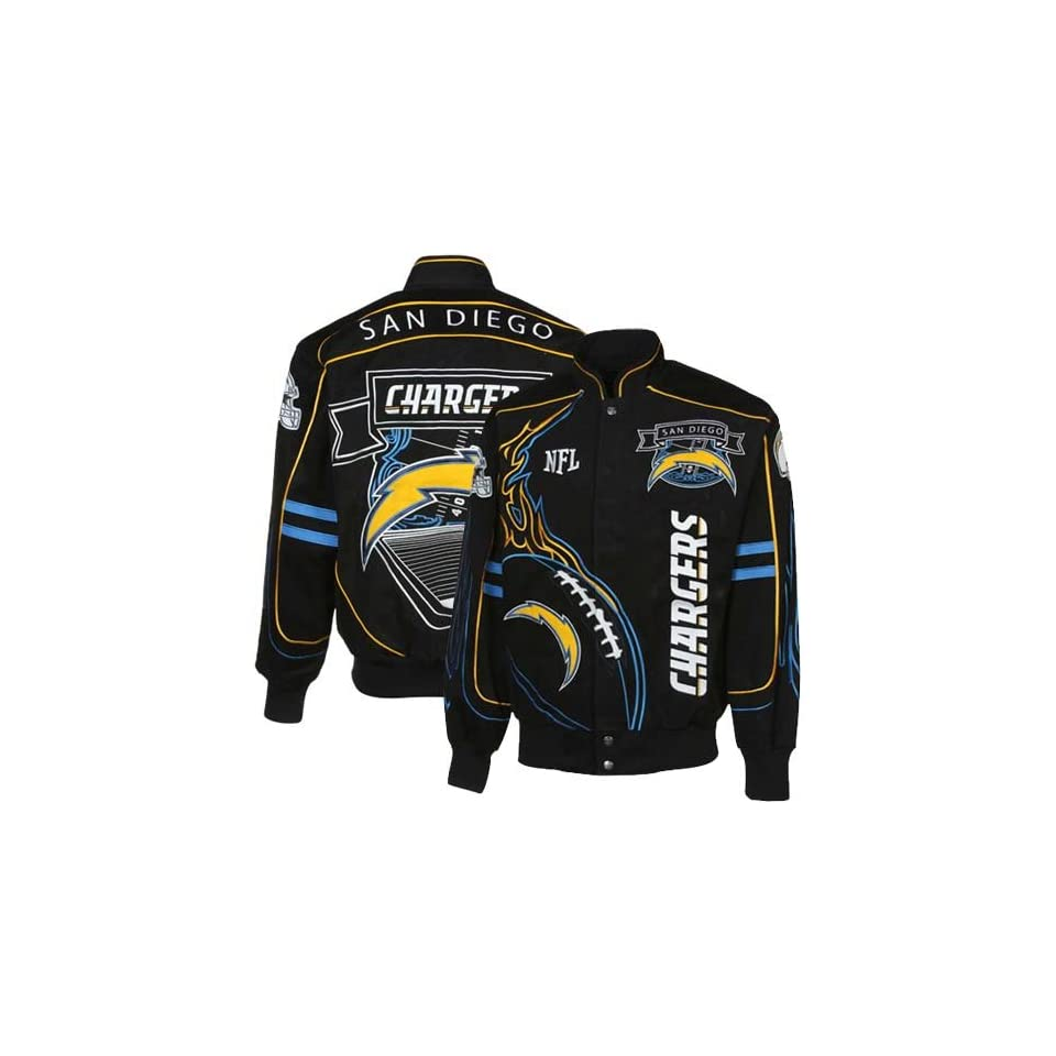 NFL San Diego Chargers On Fire Jacket