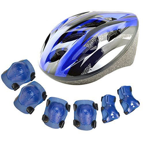 itechor-elbow-wrist-knee-pads-and-helmet-sport-safety-protective-gear-guard-for-kids-blue
