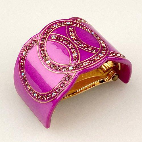 Bel Esprit Purple - Cubitas Bellini Collection (Hand-Set Swarovski Crystals, Hair Clip)
