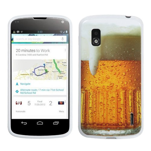 Asmyna LGE960CASKCAIM909NP Slim and Durable Protective Cover for LG Nexus 4 E960 - 1 Pack - Retail Packaging - Beer-Food