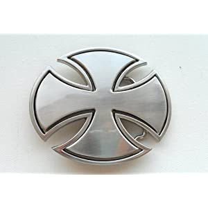 Iron Cross German Cross Belt Buckle Brushed Nickel Look