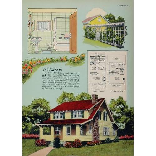 1925 vintage colonial bungalow house floor plan farnham for 1925 bungalow floor plan