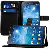 kwmobile Wallet Case Hülle für Samsung Galaxy Mega 6.3 - Cover Flip Tasche mit Kartenfach und Ständerfunktion in Schwarz