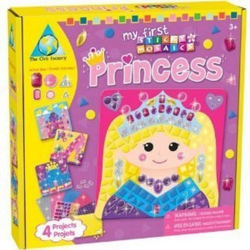 More Than Enough Sticky Glitter And Jewel Pieces To Complete 4 Sparkling Princess Projects - The Orb Factory My First Sticky Mosaics® Princess