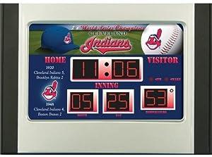 Cleveland Indians Scoreboard Desk & Alarm Clock by Hall of Fame Memorabilia