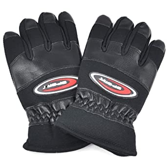 Smallwise Trading Herren Winter Thermal Driving Motorrad Biker Racing Gloves Warm Soft (Black)