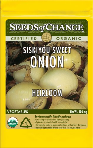 Seeds of Change S10659 Certified Organic Siskiyou Sweet Onion, 350 Seed Count