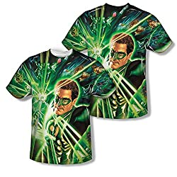 Green Lantern Burst All Over Print Front / Back T-Shirt