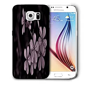 Snoogg Grey Flower Printed Protective Phone Back Case Cover For Samsung Galaxy S6 / S IIIIII