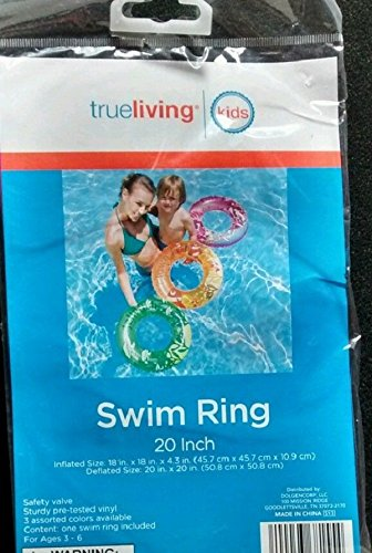 "Trueliving Swim Ring 20"" Assorted Colors - 1"