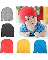 Cotton Toddler Unisex Cap Hats Newborn Beanies Baby Infant Soft Cute Toddler Kids Cap Hats-Gray