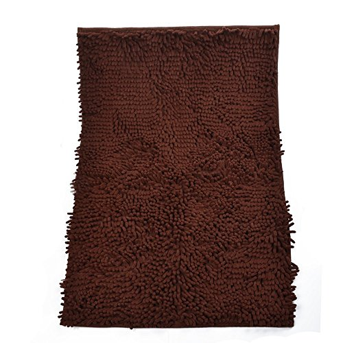 Ellami Dark Brown Anti-slip Microfiber Carpet Bedroom