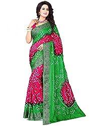 Mahek Fashion Hub Women's Cotton Silk Saree (MMAHE72021993240_Multicolour)